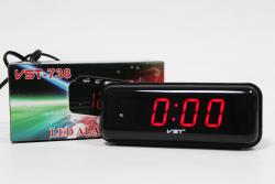 Настольные часы VST-738-1 Красный